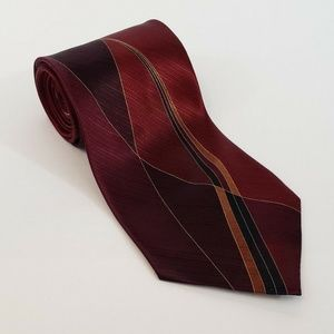 Martin Wong Collection Mens Neck Tie 100% Silk Red